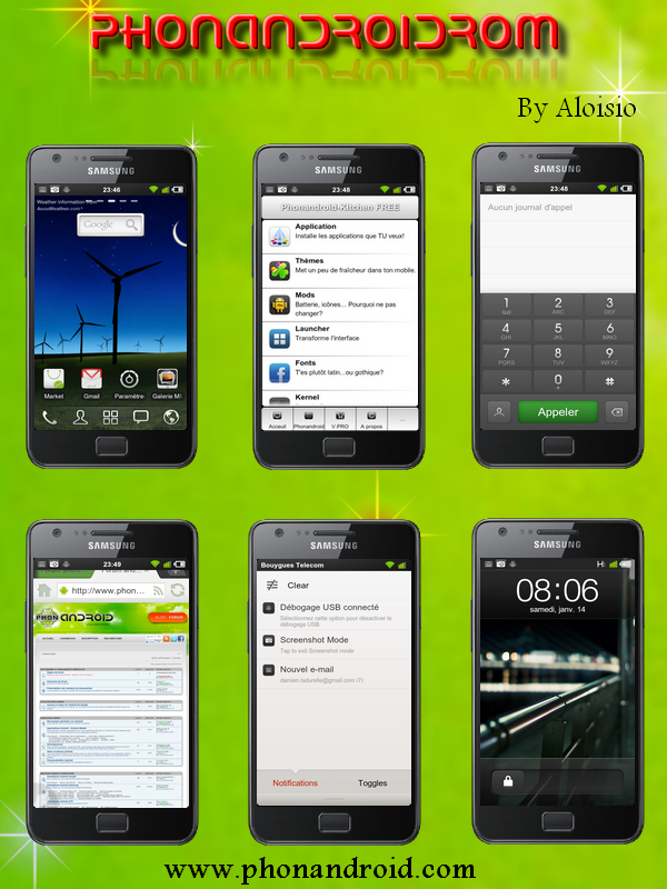 PhonandroidRom pour Samsung Galaxy S2 i9100
