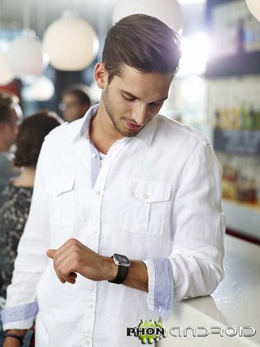 Smartwatch au poignet