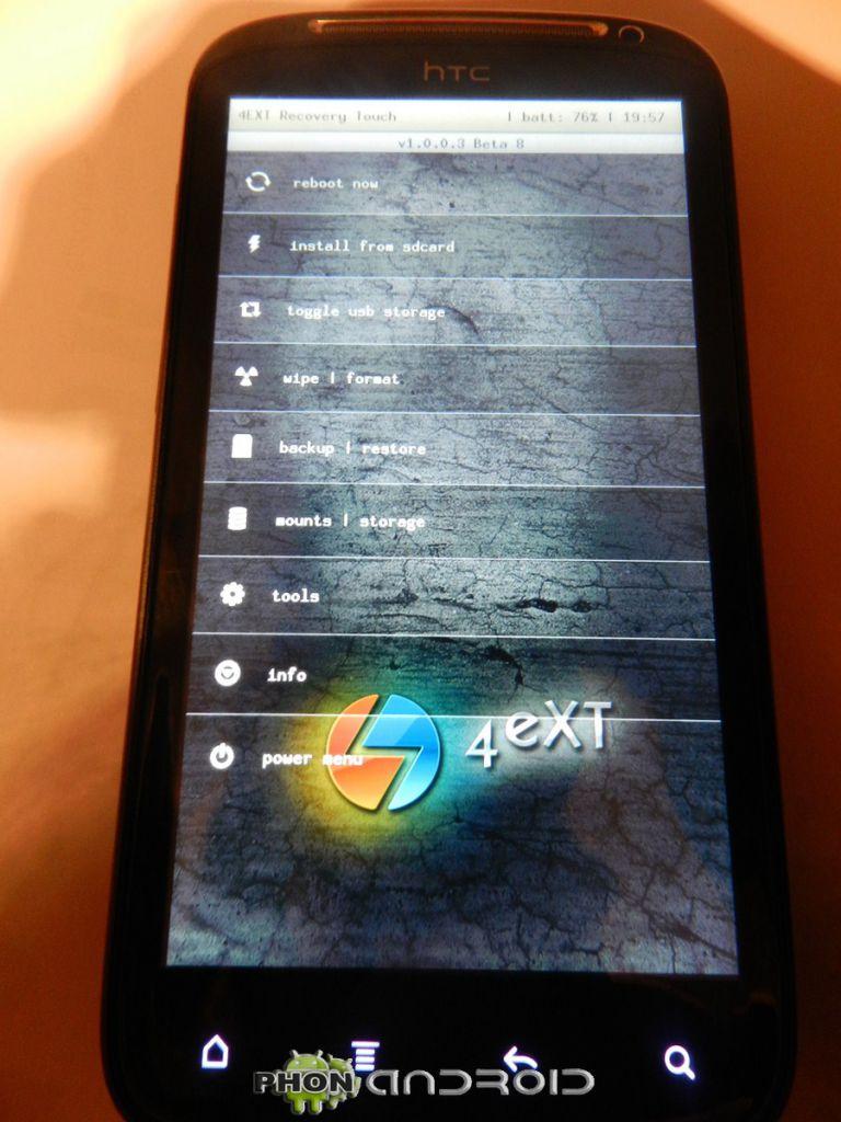 tuto HTC sensation 4EXT 768x1024 Tutoriel : Bien débuter avec son HTC Sensation, S Off, Root, Recovery, SuperCID.