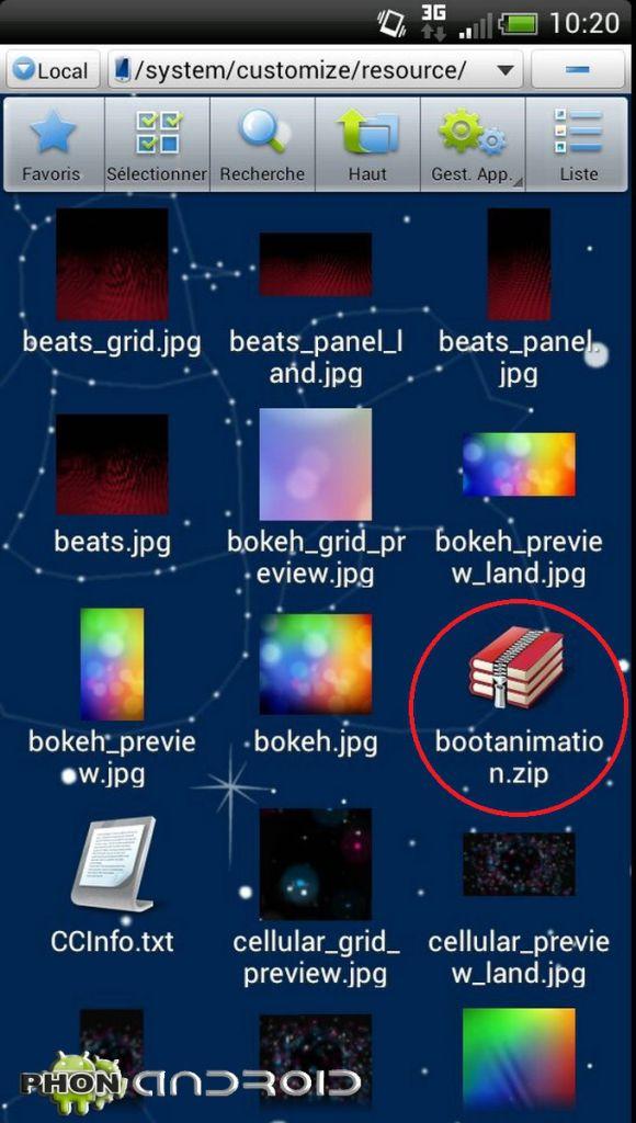 Changer son bootanime 9 1600x1200 580x1024 Tutoriel: changer le Bootanimation de son HTC