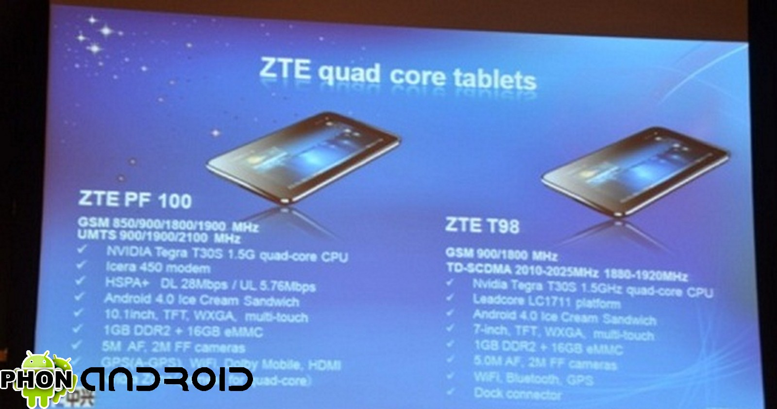 Tablette ZTE Quad-core