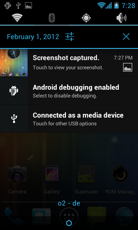 CyanogenMod 4.0.4 Galaxy S2 - Notifications