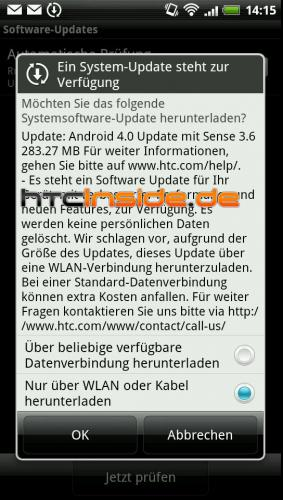 HTC Sensation XE ICS