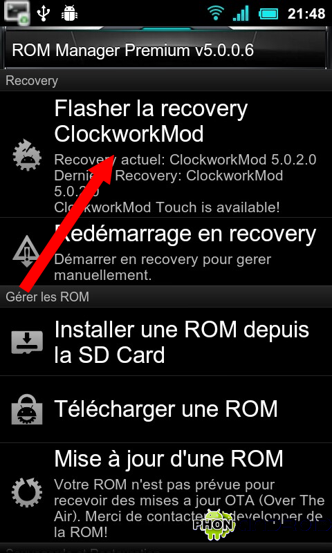 Installation CWM Recovery