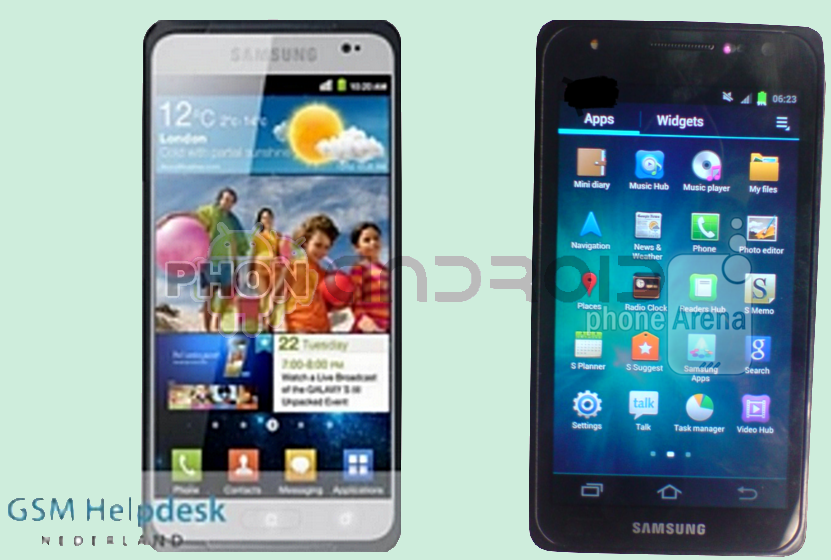 Leaks Galaxy S3