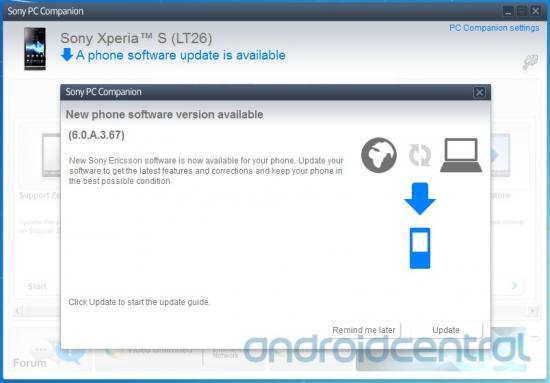 Sony Xperia S PC Companion