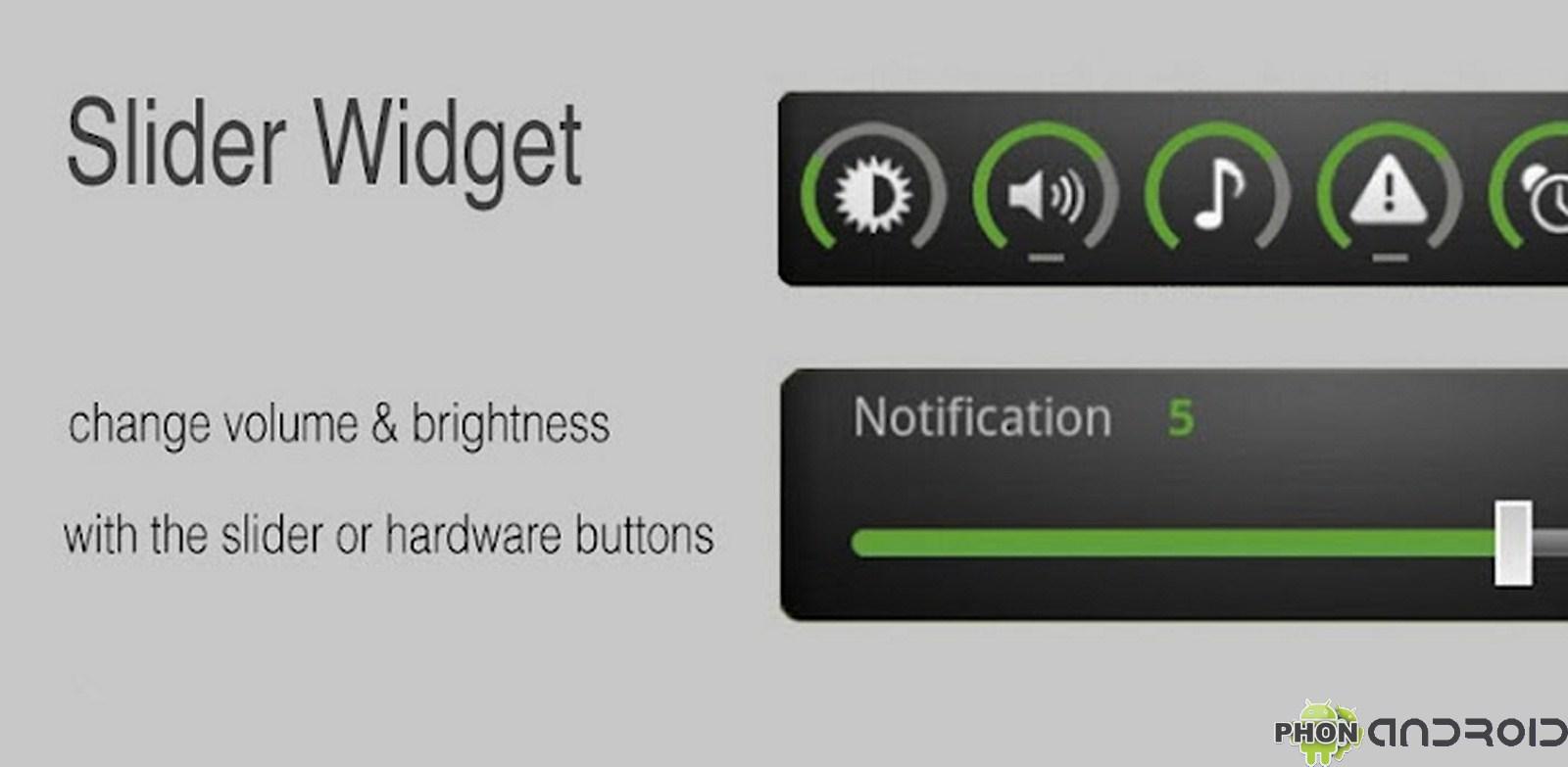 Slider Widget présentation