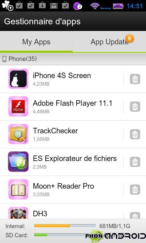 Go Launcher EX - Gestionnaire d'applications