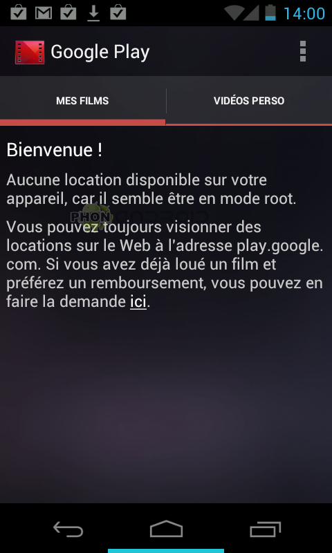 Play Films avec Root