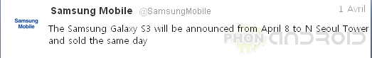 Samsung Tweet Galaxy S3