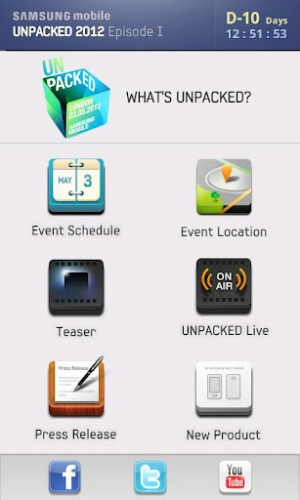 Samsung Unpacked Application Android