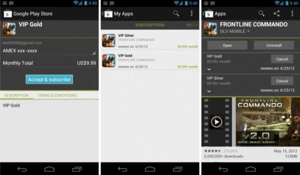 Google Play in-app