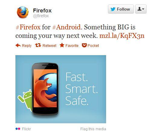 Firefox annonce une mise a jour de son navigateur mobile