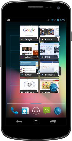 Galaxy Nexus Android 4.1 Jelly Bean