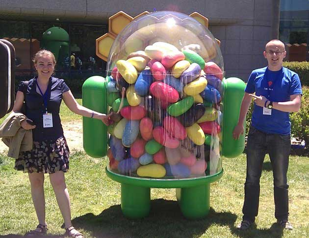 Statue Jelly Bean au Googleplex
