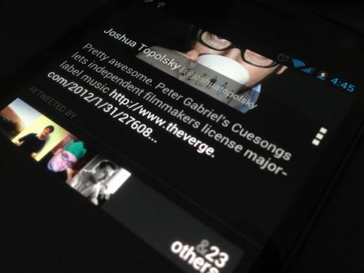 Carbon, un nouveau client Twitter pour Android