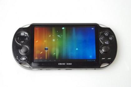 Droidx360 Une Console De Jeux Portable Sous Android 4 Ice Cream