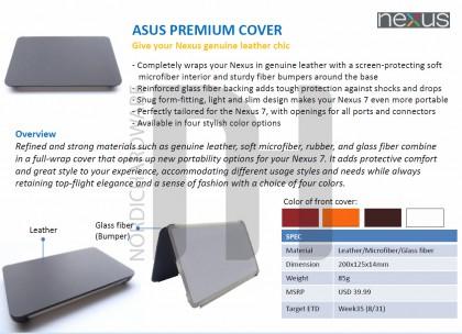 Etui cuir premium Nexus 7