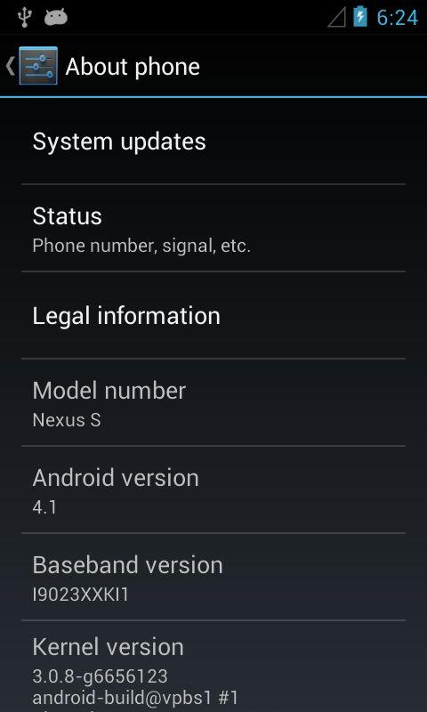 Nexus S Jelly Bean