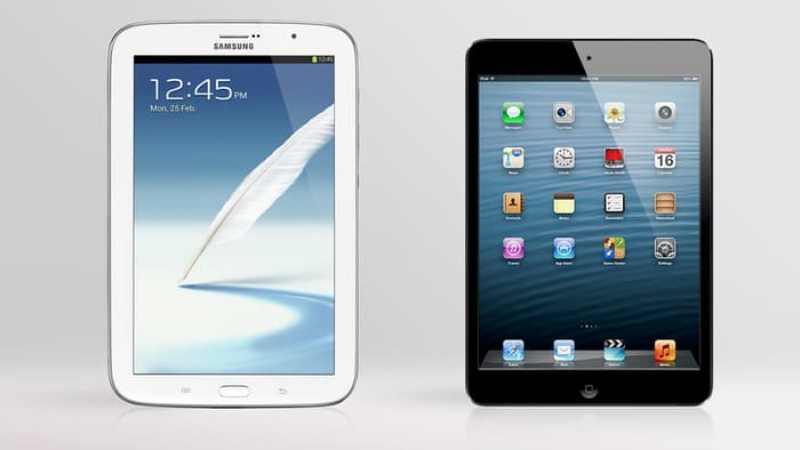 Galaxy Note 8 vs iPad mini