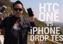 htc one vs iphone 5 qui resiste le mieux aux chutes video