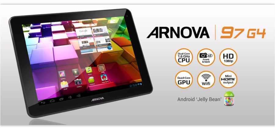 Archos : la nouvelle tablette Arnova 97 G4