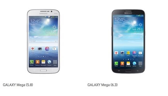Les Galaxy Mega 5.8 et 6.3