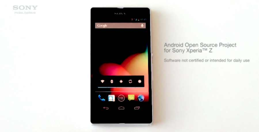 Sony Xperia Z: Sony l'ajoute enfin à l'AOSP (Android Open Source Project)