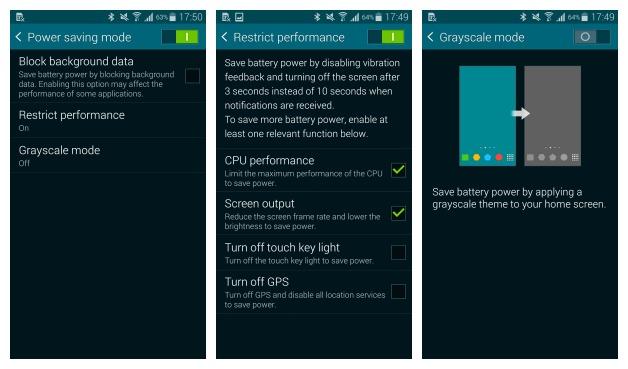Economie énergie Android