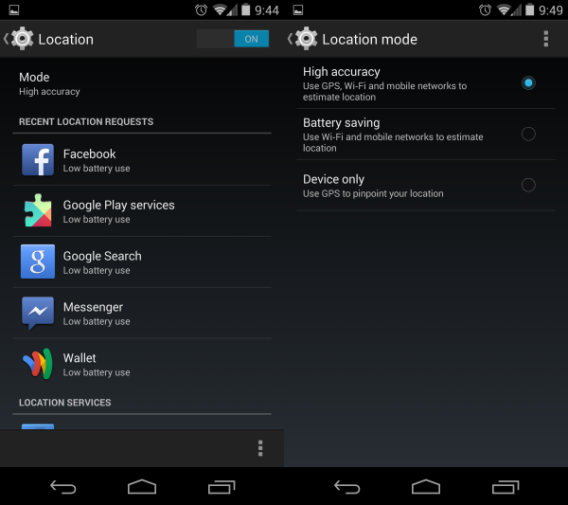 Localisation Android