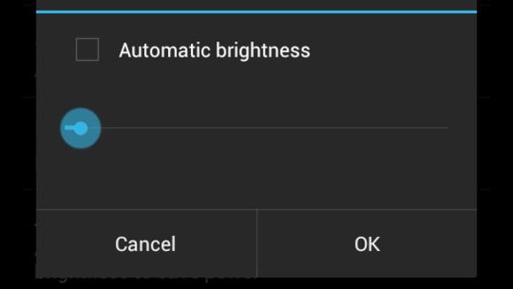 Luminosité de l'écran