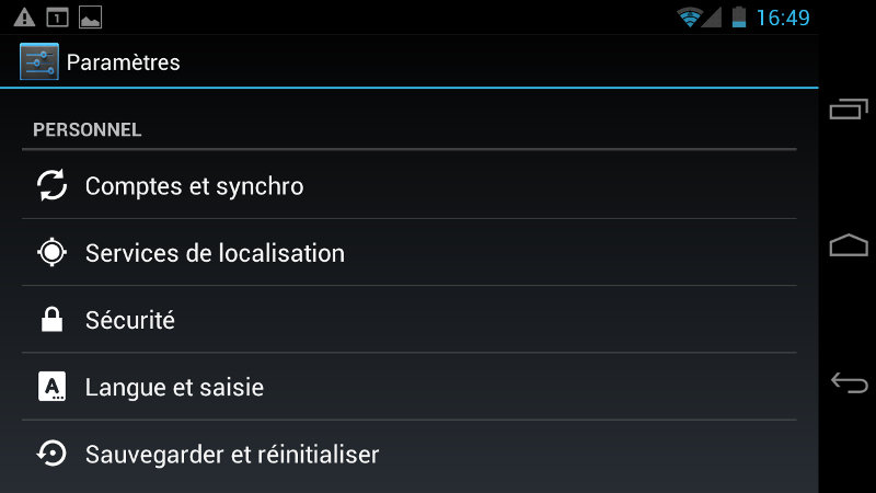 Synchronisation Android