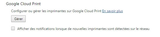 Google Chrome Imprimer