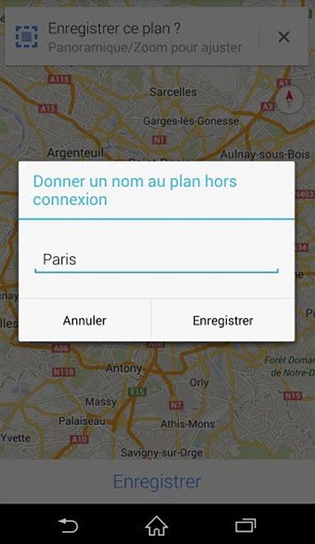 google maps enregistrer plan