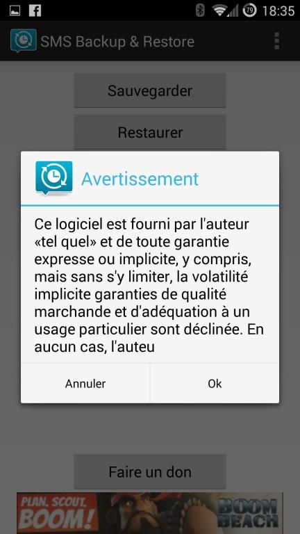 Guide de sauvegarde des données SMS backup and restore