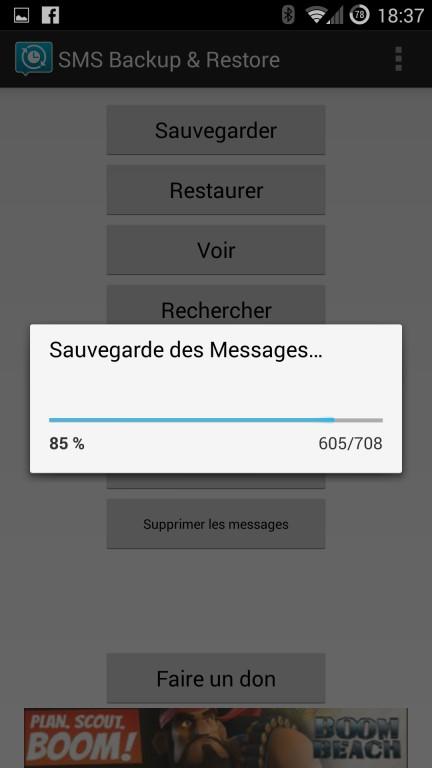 Guide de sauvegarde des SMS