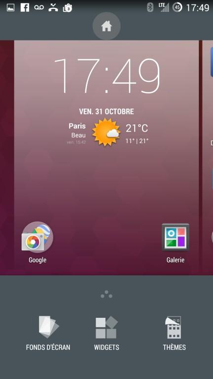 CyanogenMod installation fond d'écran