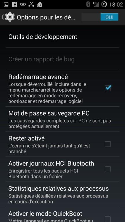 CyanogenMod installation options pour les développeurs