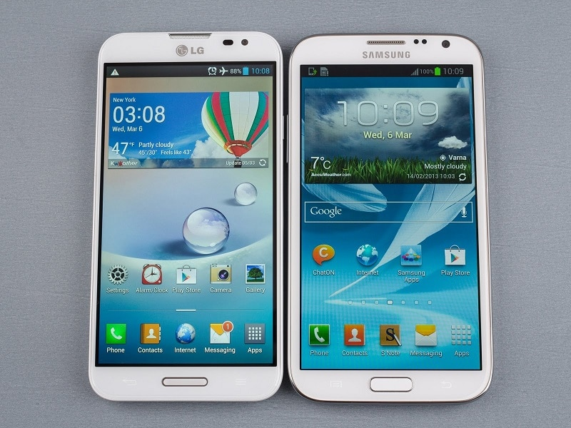 Galaxy Note 3 vs Optimus G Pro