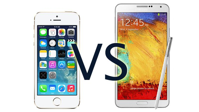 iphone 5s vs note 3