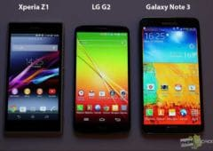 Xperia Z1 vs LG G2 vs Galaxy Note 3