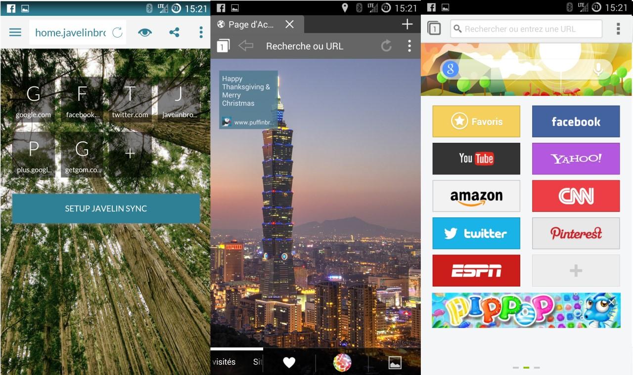Comparatif de navigateurs Internet avec Next Browser