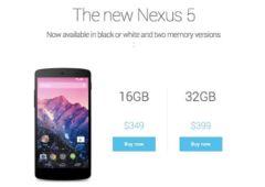 nexus 5 apparait brievement play store prix 349