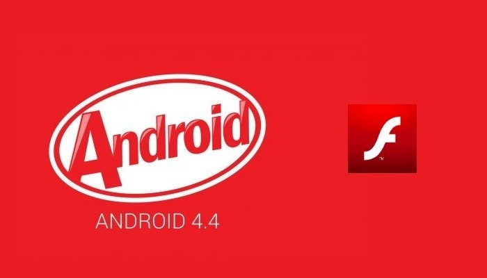 android 4.4 kitkat flash player