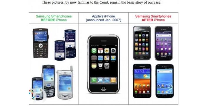 avant après iphone samsung