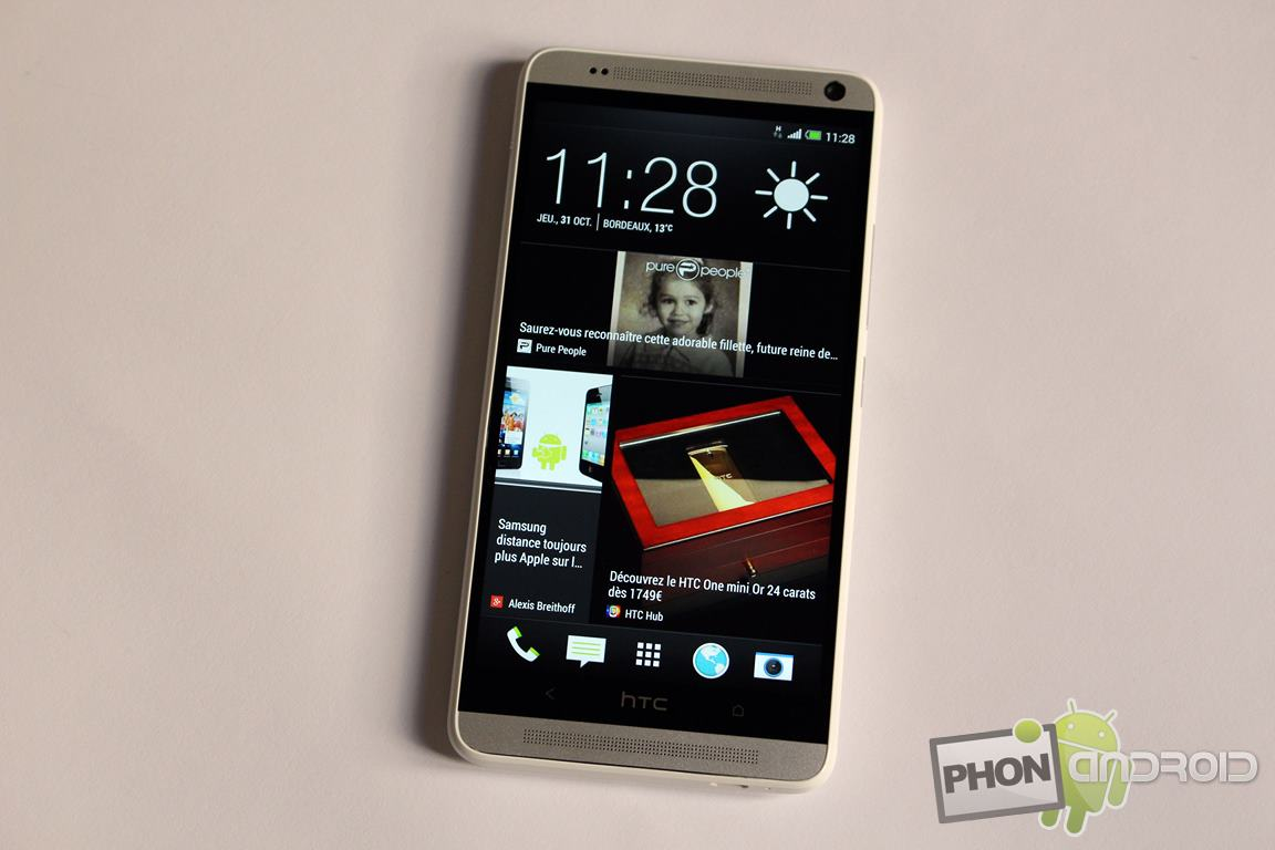 htc one max ecran