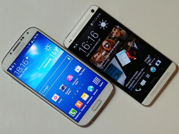 htc one vs galaxy s4 benchmark