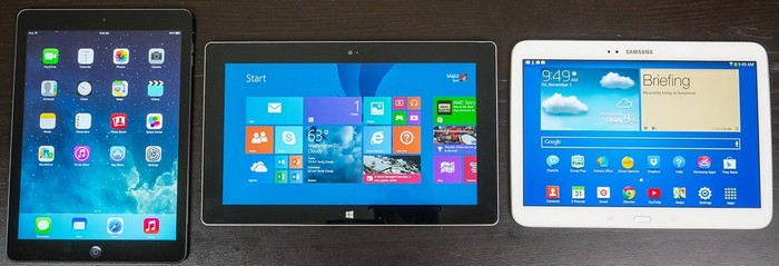 ipad vs surface 2 vs galaxy tab 3