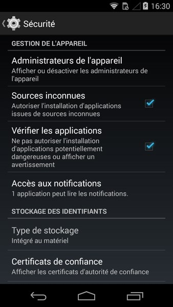 adobe flash player android sources inconnues