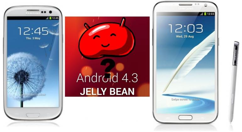 Android 4.3 galaxy s3 note 3